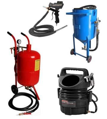 Diferentes modelos de Máquina chorreadora de arena